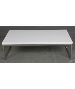 Mesa JENNIFER, baja, lacada blanca, 102x60 cms