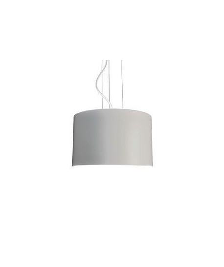 Lámpara LUGANO, colgante, pantalla gris claro