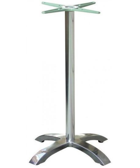 Base de mesa MILAN, alta, 4 brazos, aluminio*
