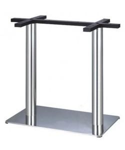 Base de mesa RHIVO, acero inoxidable, 70*40*73 cms, pulido satinado