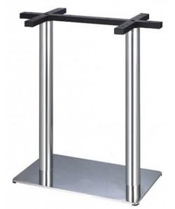 Base de mesa RHIVO, alta, acero inoxidable, 70*40*110 cms, pulido satinado