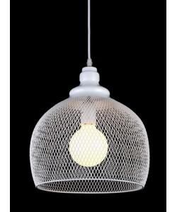 Lámpara GRETA, colgante, metal, pantalla blanca