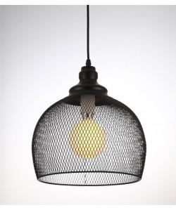 Lámpara GRETA, colgante, metal, pantalla negra