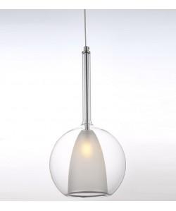 Lámpara ORCUS, colgante, cristal transparente