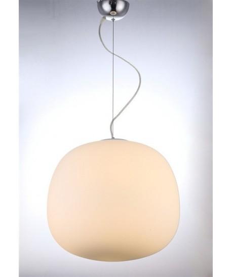 Lámpara MOON, colgante, cristal opaco blanco