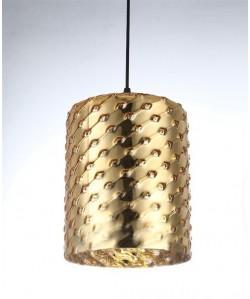 Lámpara SENDA, colgante, cristal dorado