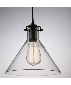 Lámpara DAFNE 1, colgante, cristal transparente