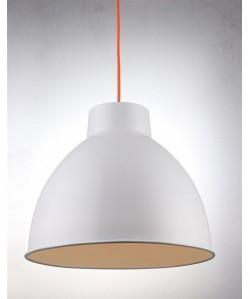 Lámpara BELL, colgante, metal, pantalla blanca