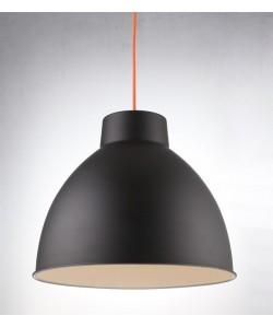 Lámpara BELL, colgante, metal, pantalla negra