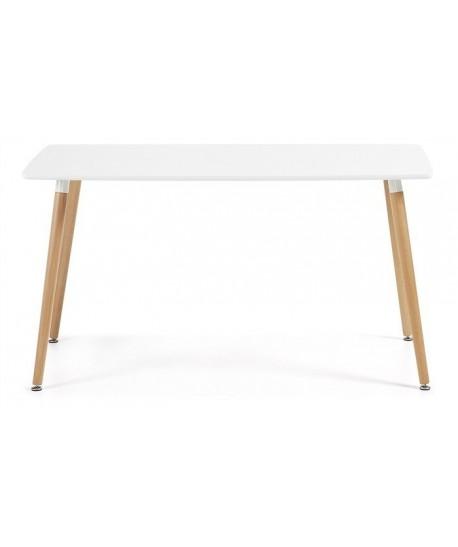 Mesa NURY NEW, madera, tapa blanca, 160 x 90 cms