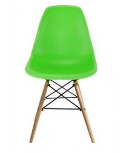 Silla TORREIFFEL, madera, polipropileno verde