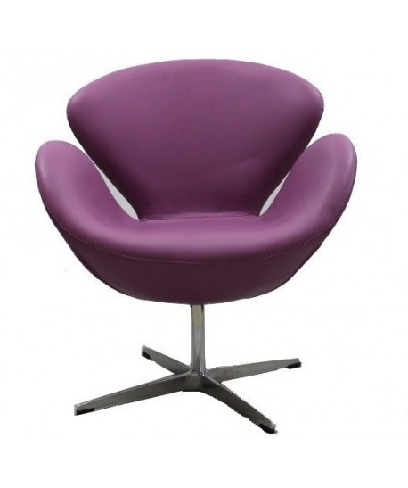 Sillón SW 50, fijo, tapizado similpiel púrpura