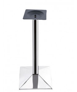 Base de mesa ASWAN, alta, cromada, 50*50*110 cms