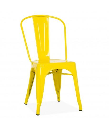 Silla TOL, acero, amarilla