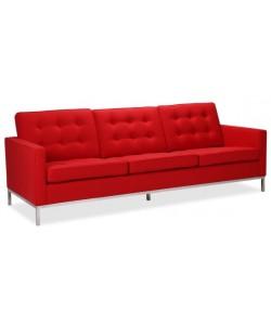 Sofá FLOR, 3 plazas, tejido cachemir rojo