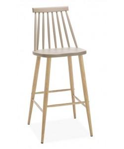 Taburete CAMUS, metal, beige