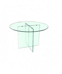 Mesa DURBAN, cristal templado, 120 cms